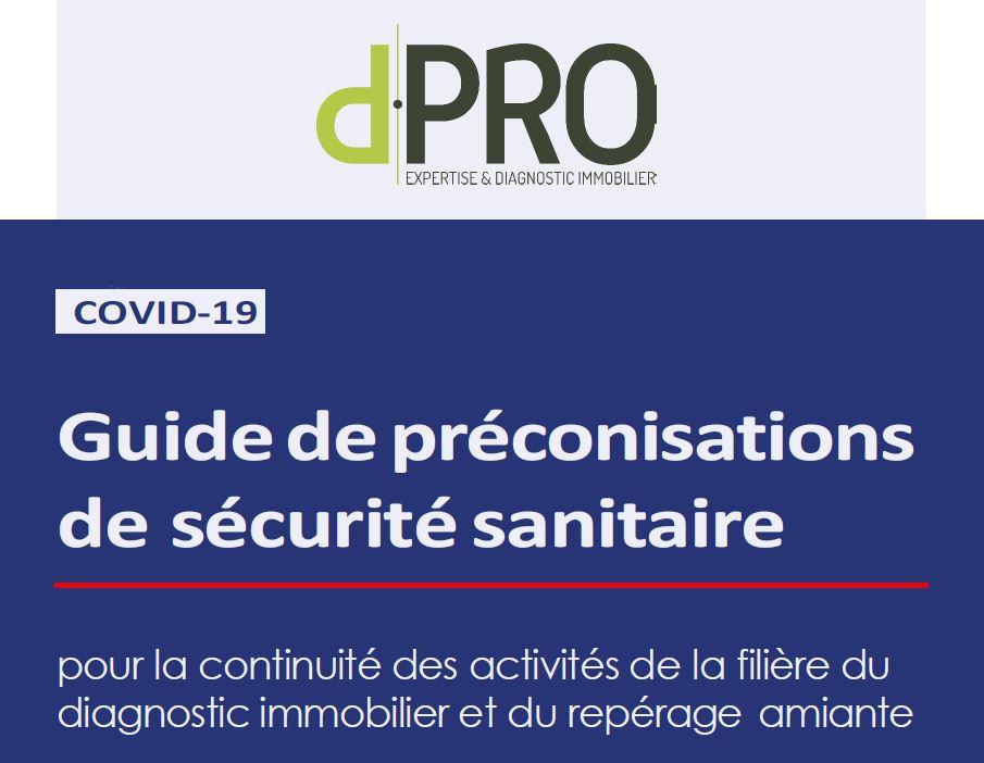Guide de préconisation de sécurité sanitaire - continuité des activités